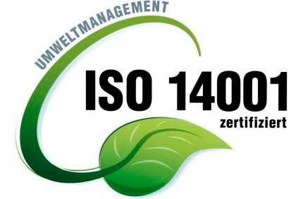 ISO 14001 zertifiziert