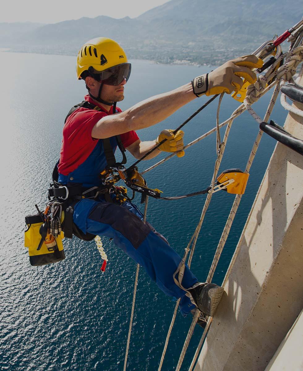 Fallschutz Seil Sicherung Kopfschutz