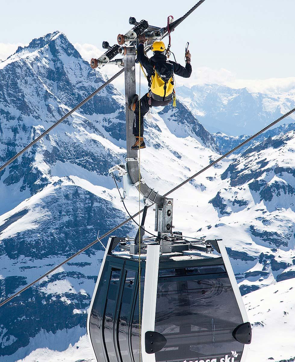 Vertical Limit Seilbahn Fallschutz