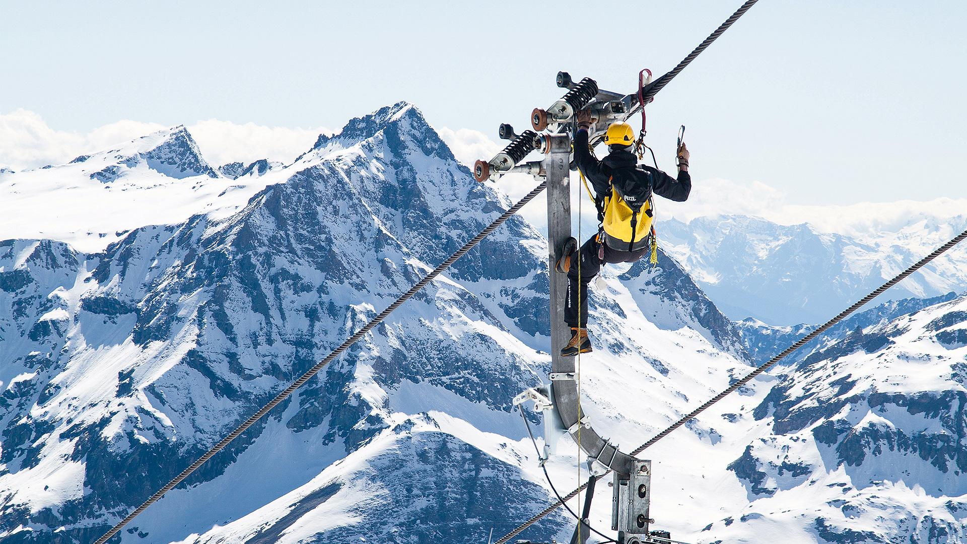 Vertical Limit Fallschutz Seilbahn Sicherung